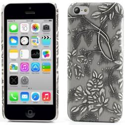 """Ziedi"" plastmasas apvalks - pelēks (iPhone 5C)"