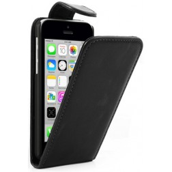 Klasisks atvēramais futrālis - melns (iPhone 5C)