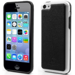 """Kingpad"" Leather apvalks - melns (iPhone 5C)"
