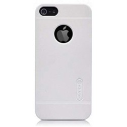 """Nillkin"" Frosted Shield futrālis - balts + ekrāna aizsargplēve (iPhone 5 / 5S)"