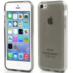 Cieta silikona futrālis - pelēks (iPhone 5C)