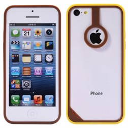 """BASEUS""  rāmis (bamperis) brūns/dzeltens (iPhone 5C)"