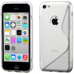 Cieta silikona futrālis - dzidrs (iPhone 5C)