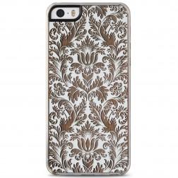 """Crafted Cover"" dabīga koka apvalks - Puķu dārzs (iPhone 5 / 5s)"