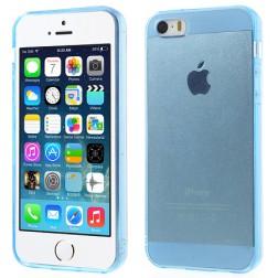 Planākais TPU dzidrs futrālis - zils (iPhone 5 / 5S)