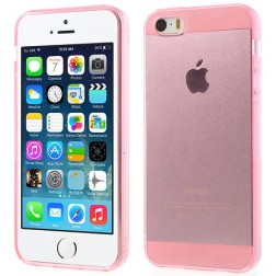 Planākais TPU dzidrs futrālis - rozs (iPhone 5 / 5S)