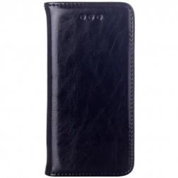 Solīds atvēramais ādas maciņš - melns (iPhone 5 / 5S)