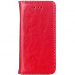 Solīds atvēramais ādas maciņš - sarkans (iPhone 5 / 5S)