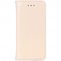 Solīds atvēramais ādas maciņš - smilšains (iPhone 5 / 5S)