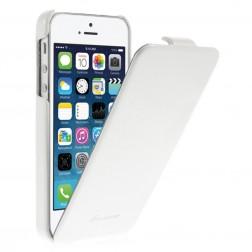 Vertikāli atvēramais klasisks maciņš - balts (iPhone 5 / 5s)