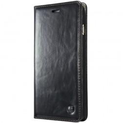 """""""CaseMe"""" solīds atvēramais ādas maciņš - melns (iPhone 6 / 6s)"""