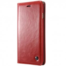 """""""CaseMe"""" solīds atvēramais ādas maciņš - sarkans (iPhone 6 / 6s)"""