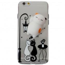 """Squezy"" Cat cieta silikona (TPU) apvalks - dzidrs (iPhone 6 / 6s)"