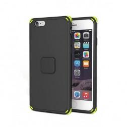 """""""Rock"""" Moc pastiprinātas aizsardzības apvalks - melns (iPhone 6 / 6S)"""