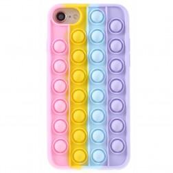 """Popit"" Bubble mīksta silikona (TPU) apvalks - rozs (iPhone 6 / 7 / 8 / SE 2020)"