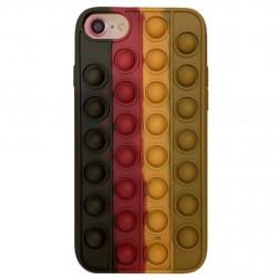 """Popit"" Bubble mīksta silikona (TPU) apvalks - brūns (iPhone 6 / 7 / 8 / SE 2020)"