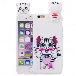 """Squezy"" Cat cieta silikona (TPU) apvalks - balts (iPhone 6 / 6s)"