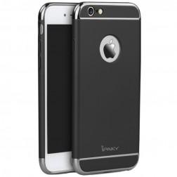 """IPAKY"" Luxury cieta plastika apvalks - melns / sudrabs (iPhone 6 / 6s)"