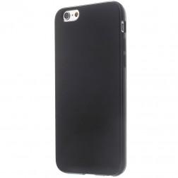 Cieta silikona (TPU) glancēta apvalks - melns (iPhone 6 / 6s)