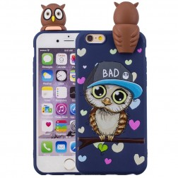 """Squezy"" Owl cieta silikona (TPU) apvalks - zils (iPhone 6 / 6s)"