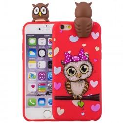 """Squezy"" Owl cieta silikona (TPU) apvalks - sarkans (iPhone 6 / 6s)"
