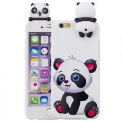 """Squezy"" Panda cieta silikona (TPU) apvalks - balts (iPhone 6 / 6s)"