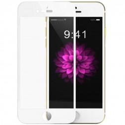 """""""Devia"""" 9H Tempered Glass ekrāna aizsargstikls 0.33 mm + aizsargplēve aizmugurējām vāciņam - balts (iPhone 6 Plus / 6S Plus)"""