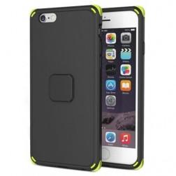 """""""Rock"""" Moc pastiprinātas aizsardzības apvalks - melns (iPhone 6 Plus / 6S Plus)"""
