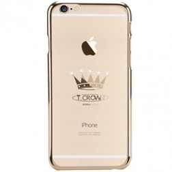 """X-Fitted"" Crown Swarovski apvalks - zelta (iPhone 6 Plus / 6S Plus)"