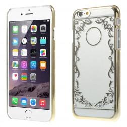 Dzidrs apvalks no rakstainas plastmasas - zelta (iPhone 6 / 6s)