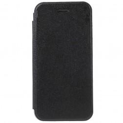 """""""Shiny"""" solīds atvēramais ādas maciņš - melns (iPhone 6 / 6s)"""