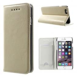 Solīds atvēramais ādas maciņš - smilšains (iPhone 6 / 6s)