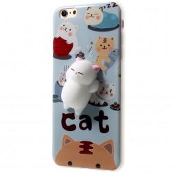 """Squezy"" Cat cieta silikona (TPU) apvalks - zils (iPhone 6 / 6s)"