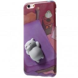"""Squezy"" Cat cieta silikona (TPU) apvalks - violeta (iPhone 6 / 6s)"