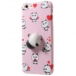 """Squezy"" Panda cieta silikona (TPU) apvalks - rozs (iPhone 6 / 6s)"