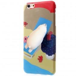 """""""Squezy"""" Polar Bear cieta silikona (TPU) apvalks - brūns (iPhone 6 / 6s)"""