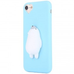 """Squezy"" Polar Bear cieta silikona (TPU) apvalks - gaiši zils (iPhone 6 / 6s)"