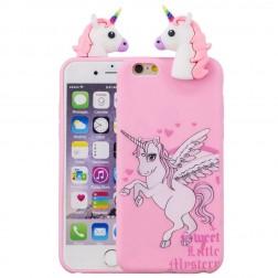 """Squezy"" Unicorn cieta silikona (TPU) apvalks - rozs (iPhone 6 / 6s)"