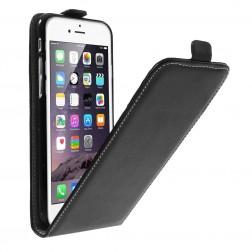 Vertikāli atvēramais maciņš - melns (iPhone 6 / 6s)