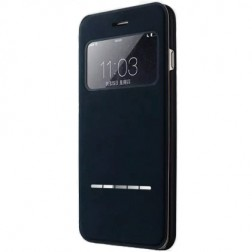 """Vili"" S View Cover atvērams maciņš - melns (iPhone 6 / 6s)"