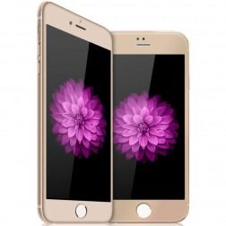 """""""Devia"""" Tempered Glass ekrāna aizsargstikls 0.33 mm - zelta + aizsargplēve aizmugurējām vāciņam (iPhone 6 / 6S)"""