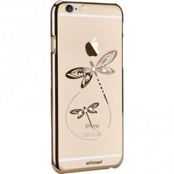 """X-Fitted"" Dragonfly Swarovski apvalks - zelta (iPhone 6 / 6S)"