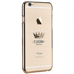"""X-Fitted"" Crown Swarovski apvalks - zelta (iPhone 6 / 6S)"
