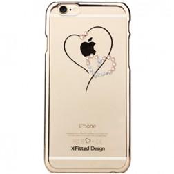 """X-Fitted"" Telesthesia Swarovski apvalks - zelta (iPhone 6 / 6S)"