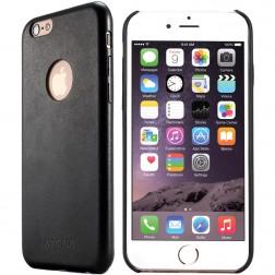 """Amorus"" Slim Leather ādas apvalks - melns (iPhone 6 / 6S)"