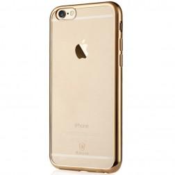 """Baseus"" Shining apvalks - dzidrs, zelta (iPhone 6 / 6S)"