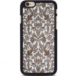 """Crafted Cover"" dabīga koka apvalks - Puķu dārzs (iPhone 6 / 6s)"