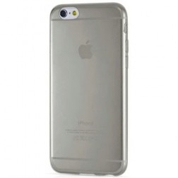 Planākais TPU dzidrs apvalks - pelēks (iPhone 6 / 6S)