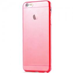 Planākais TPU dzidrs apvalks - sarkans (iPhone 6 Plus / 6S Plus)