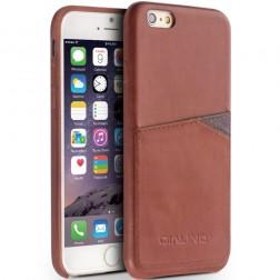 """""""QIALINO"""" Leather ādas apvalks - gaiši brūns (iPhone 6 / 6s)"""